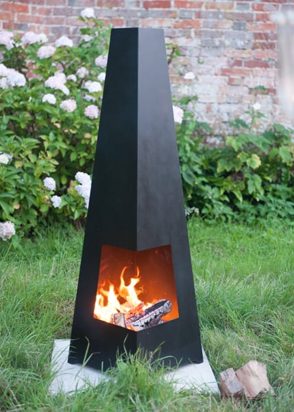 Contemporary cuba chimenea black