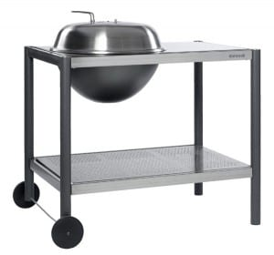 Dancook 1500 kettle charcoal BBQ with preparation Table
