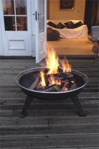 Large party firepit and barbecue