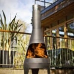 Large steel chimenea canyon