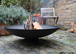 large cast iron fire pit and brazier